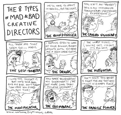 8 types of mad & bad creative directors
