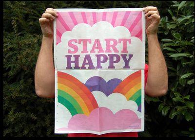 Start happy poster
