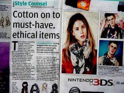 Fairtrade scarves in metro