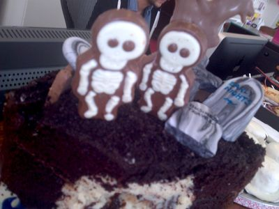 Skeletons on cake
