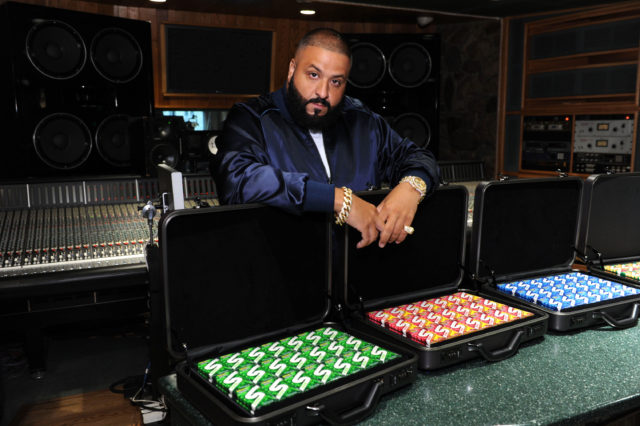 - New York, NY - 07/19/2016 - DJ Khaled chews all-new Stride Gum charged with Crunch Reactors as he lays down a track for the brand. -PICTURED: DJ Khaled -PHOTO by: Michael Simon/startraksphoto.com -MS330941 Editorial - Rights Managed Image - Please contact www.startraksphoto.com for licensing fee Startraks Photo Startraks Photo New York, NY  For licensing please call 212-414-9464 or email sales@startraksphoto.com Image may not be published in any way that is or might be deemed defamatory, libelous, pornographic, or obscene. Please consult our sales department for any clarification or question you may have Startraks Photo reserves the right to pursue unauthorized users of this image. If you violate our intellectual property you may be liable for actual damages, loss of income, and profits you derive from the use of this image, and where appropriate, the cost of collection and/or statutory damages.